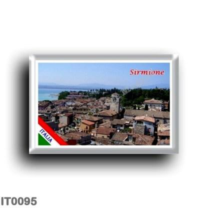 IT0095 Europe - Italy - Lake Garda - Sirmione (flag) - Panorama
