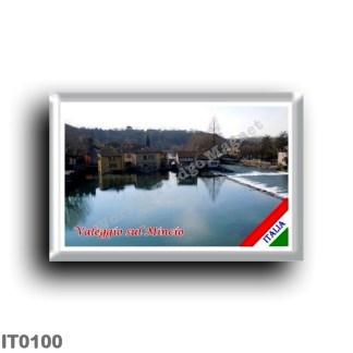 IT0100 Europe - Italy - Lake Garda - Valeggio sul Mincio (flag) - Porto