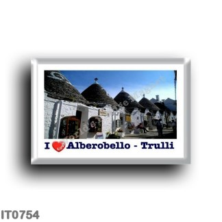 IT0754 Europe - Italy - Puglia - Alberobello - The Trulli - I Love