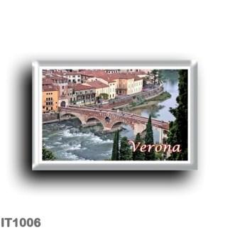 IT1006 Europe - Italy - Veneto - Verona - Roman Bridge from Castel San Pietro