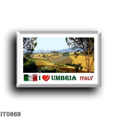 IT0869 Europe - Italy - Umbria - Typical Umbrian landscape - I Love