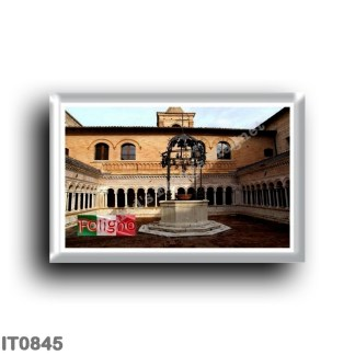 IT0845 Europe - Italy - Umbria - Foligno - Cloister of the abbey of Sassovivo