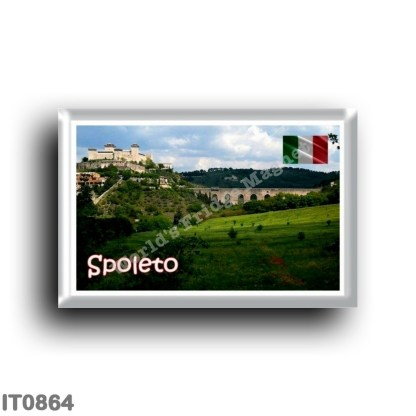 IT0864 Europe - Italy - Umbria - Spoleto - Roccaa Albornoz and Ponte delle Torri