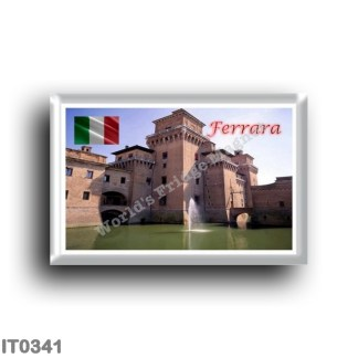 IT0341 Europe - Italy - Emilia Romagna - Ferrara - Castle Exterior View