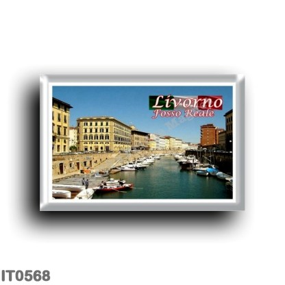 IT0568 Europe - Italy - Tuscany - Livorno - Fosso Reale and 19th century buildings
