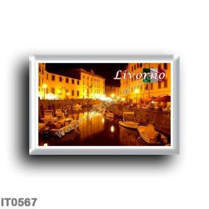 IT0567 Europe - Italy - Tuscany - Livorno - Fosso Reale by Night