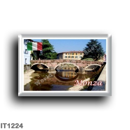 IT1224 Europe - Italy - Lombardy - Monza - Ponte San Gerardino on the Lambro river
