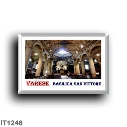 IT1246 Europe - Italy - Lombardy - Varese - Interior of the Basilica of San Vittore
