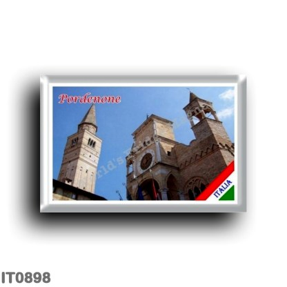 IT0898 Europe - Italy - Friuli Venezia Giulia - Pordenone - Palazzo Comunale and Campanile del Duomo
