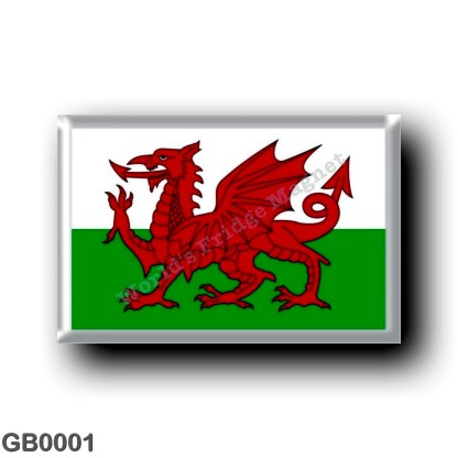 GB0001 Europe - Wales - Welsh Flag