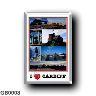 GB0003 Europe - Wales - Cardiff - I Love