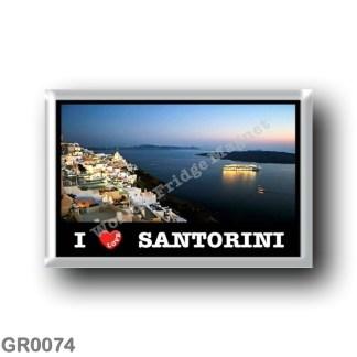 GR0074 Europe - Greece - Santorini - Thera - Thira - Fira - I Love