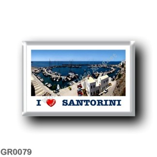 GR0079 Europe - Greece - Santorini - Thera - Thira - Port - I Love