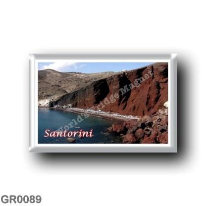 GR0089 Europe - Greece - Santorini - Thera - Thira - Red Beach