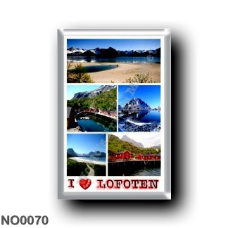NO0070 Europe - Norway - Lofoten - Mosaico I Love