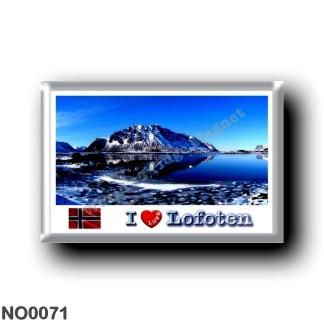 NO0071 Europe - Norway - Lofoten - Berg - I Love