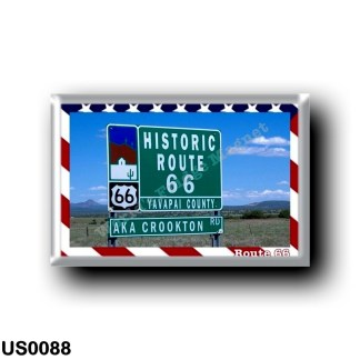 US0088 America - United States - Route 66 - Historic road signal