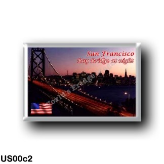 US00c2 America - United States - San Francisco - Bay Bridge at Night