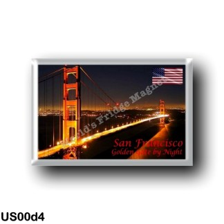 US00d4 America - United States - San Francisco - Golden Gate - By Nigth
