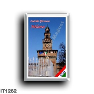 IT1262 Europe - Italy - Lombardy - Milan - Sforzesco castle - tower
