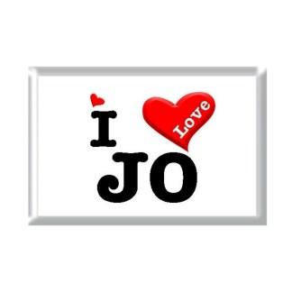 I Love JO rectangular refrigerator magnet