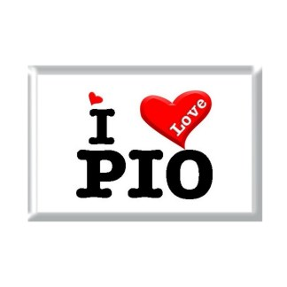 I Love PIO rectangular refrigerator magnet