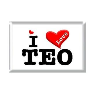 I Love TEO rectangular refrigerator magnet
