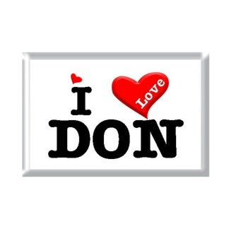 I Love DON rectangular refrigerator magnet