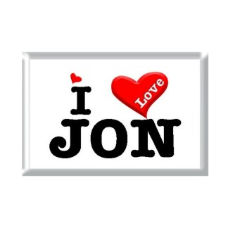 I Love JON rectangular refrigerator magnet