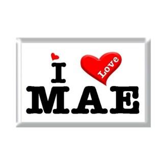 I Love MAE rectangular refrigerator magnet