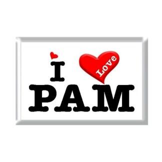I Love PAM rectangular refrigerator magnet