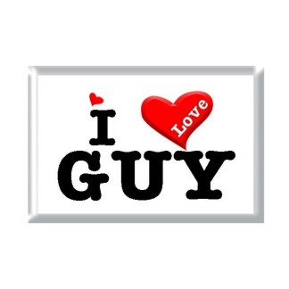 I Love GUY rectangular refrigerator magnet