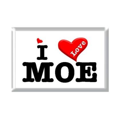 I Love MOE rectangular refrigerator magnet