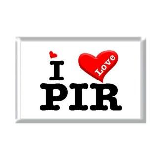 I Love PIR rectangular refrigerator magnet