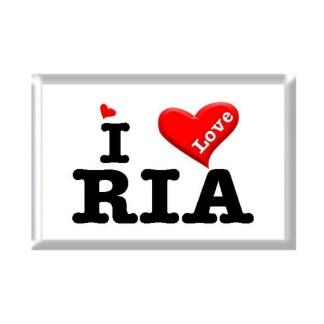 I Love RIA rectangular refrigerator magnet
