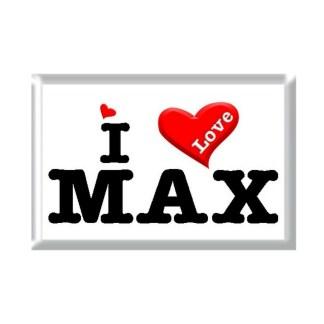 I Love MAX rectangular refrigerator magnet