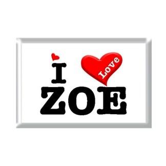 I Love ZOE rectangular refrigerator magnet