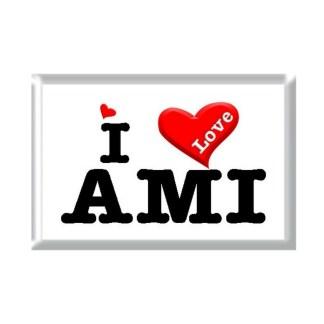 I Love AMI rectangular refrigerator magnet