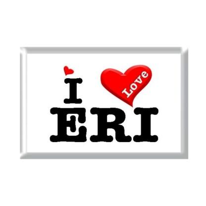 I Love ERI rectangular refrigerator magnet