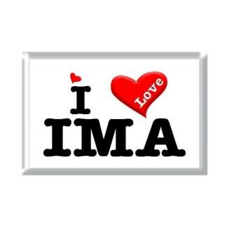 I Love IMA rectangular refrigerator magnet