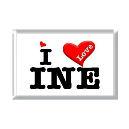 I Love INE rectangular refrigerator magnet