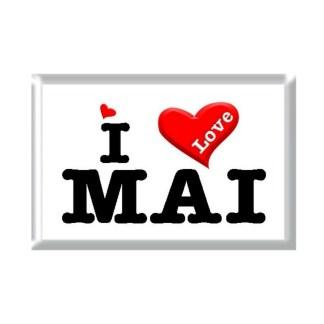 I Love MAI rectangular refrigerator magnet