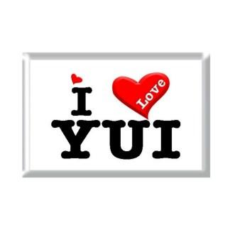I Love YUI rectangular refrigerator magnet