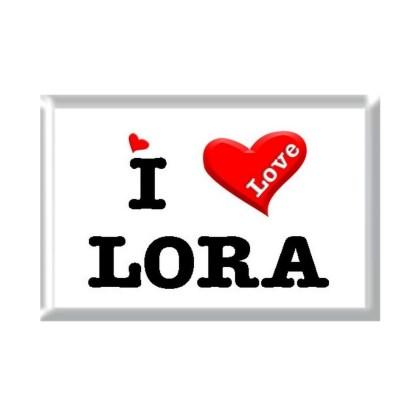I Love LORA rectangular refrigerator magnet
