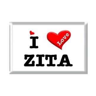 I Love ZITA rectangular refrigerator magnet