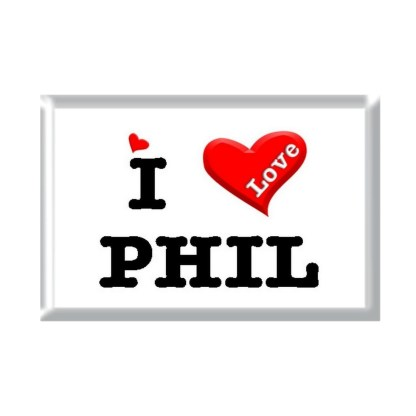 I Love PHIL rectangular refrigerator magnet