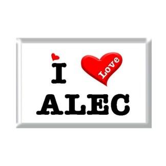 I Love ALEC rectangular refrigerator magnet