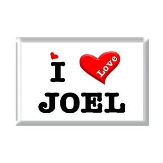 I Love JOEL rectangular refrigerator magnet