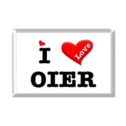 I Love OIER rectangular refrigerator magnet