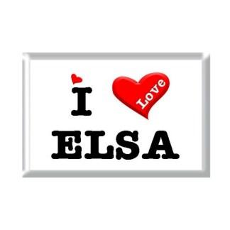 I Love ELSA rectangular refrigerator magnet